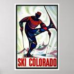 "Vintages Reise-Plakat ""Ski-Colorados"""