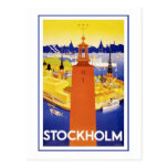 "Vintages Reise-Plakat ""Stockholms"" Postkarte"