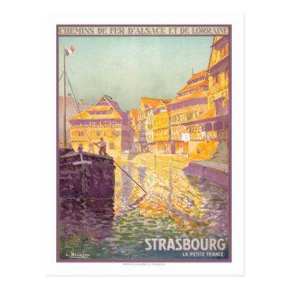 Vintages Reise-Plakat, Straßburg Postkarte