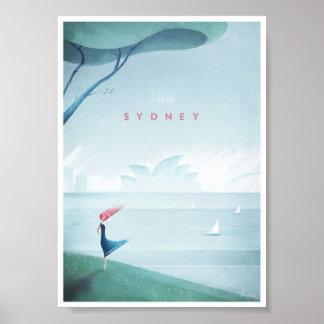 Vintages Reise-Plakat Sydneys Poster