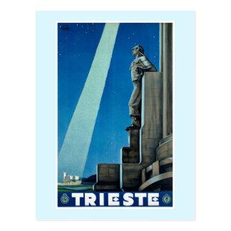 Vintages Reise-Plakat Triests Italien Postkarte