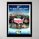 Vintages Reise Plakat USA