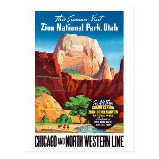 Vintages Reise-Plakat USA Utah wieder hergestellt Postkarte