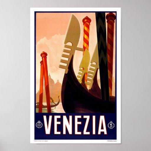 Vintages Reise-Plakat Venedig
