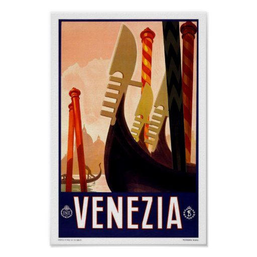 Vintages Reise-Plakat Venedig Poster