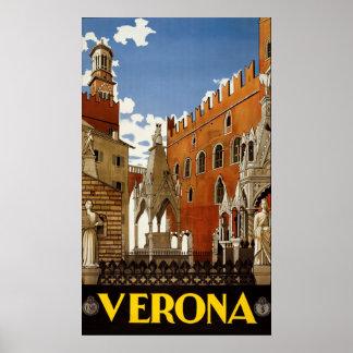 Vintages Reise-Plakat Veronas Italien Poster