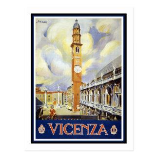 Vintages Reise-Plakat, Vicenza Postkarten