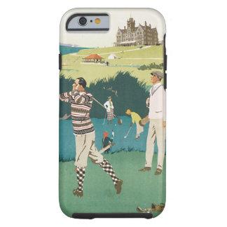 Vintages Reise-Schottland-Golf-Golf spielender Tough iPhone 6 Hülle