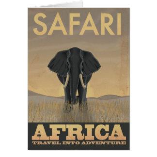 Vintages Reiseplakat Afrika-Safari Karte