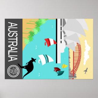 Vintages Reiseplakat Australien Poster