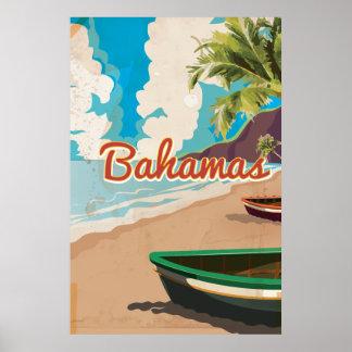 Vintages Reiseplakat Bahamas Poster