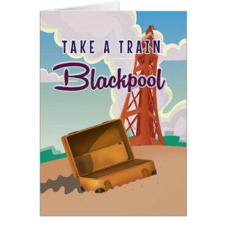 Vintages Reiseplakat Blackpools Karte