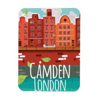 Vintages Reiseplakat Camdens, London Vinyl Magnete