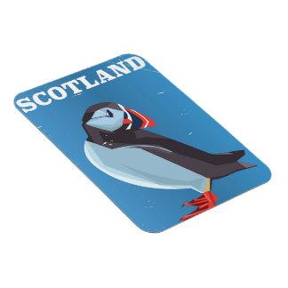 Vintages Reiseplakat des SchottlandPuffinvogels Magnet