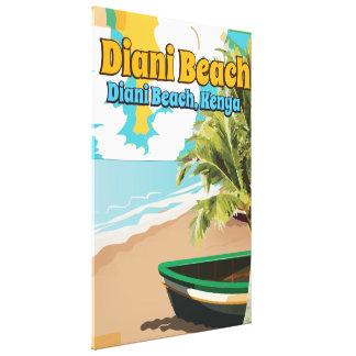 Vintages Reiseplakat Diani Strand-Kenias Leinwanddruck