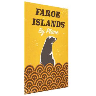 Vintages Reiseplakat Färöer Leinwanddruck