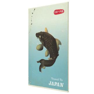 Vintages Reiseplakat Japans Koi Leinwanddruck