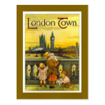Vintages Reiseplakat, London-Stadt, Postkarte