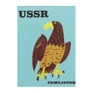 Vintages Reiseplakat UDSSR-Adlers Acryl Wandkunst