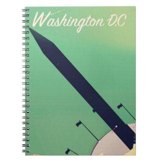 Vintages Reiseplakat Washington DCs Notizblock