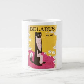 Vintages Reiseplakat Weißrusslands Jumbo-Tasse