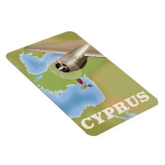 Vintages Reiseplakat Zypern-Karte Magnet
