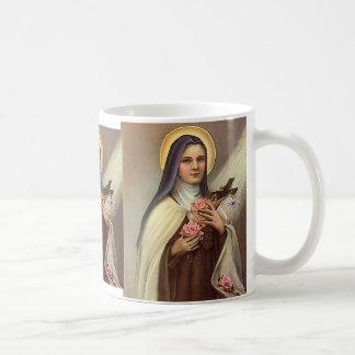 Vintages religiöses Ostern, Nonne mit Kreuz Kaffeetasse