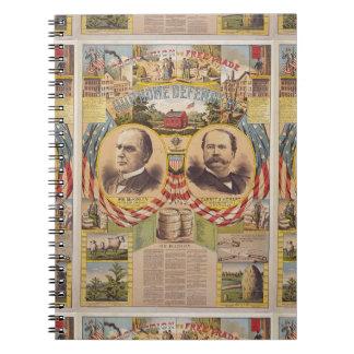 Vintages republikanisches spiral notizblock