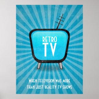 Vintages Retro Fernsehfernsehplakat Poster