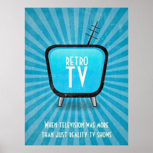 Vintages Retro Fernsehfernsehplakat Posterdrucke