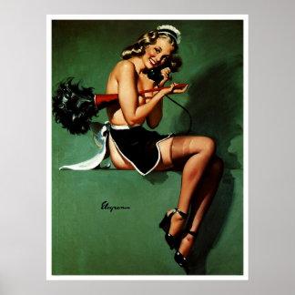 Vintages Retro Gil Elvgren französisches Poster