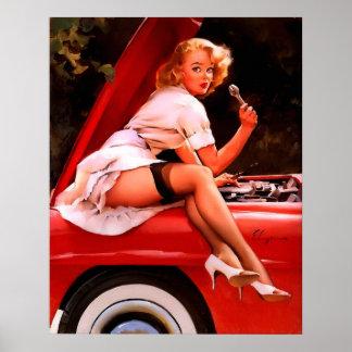 Vintages Retro Gil Elvgren Poster