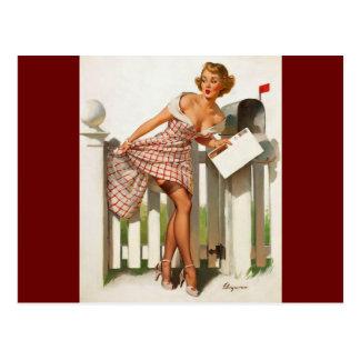 Vintages Retro Gil Elvgren Postkarten
