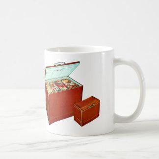 Vintages Retro Kitsch-Gerätetiefkühltruhe Kaffeetasse