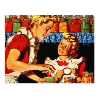 Vintages Retro Kitsch-Kriegs-Plakat-einmachende Postkarte