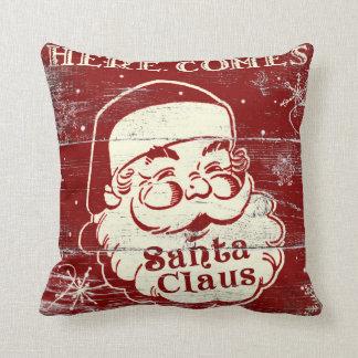 Vintages Retro kommt hier Weihnachtsmann-Kissen Kissen