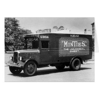 Vintages Retro tadellose Süßigkeits-LKW-Foto-leere Karte