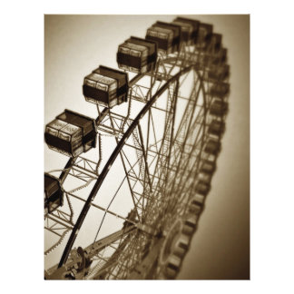 Vintages Riesenrad Flyer