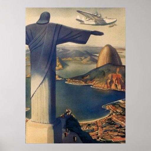 Vintages Rio de Janeiro, Christus die Redeemer-Sta Plakat