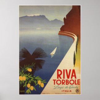 Vintages Riva Torbole Lago de Garda Italien Poster