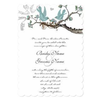 Vintages Robins Ei-blaue Hochzeits-Einladungen