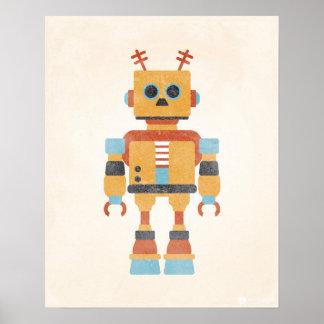Vintages Roboter-Plakat Poster
