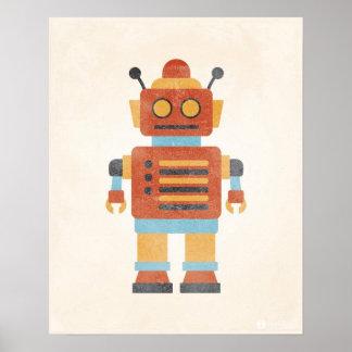Vintages Roboter-Plakat
