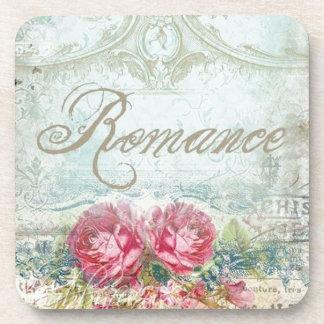 Vintages Romanace mit Blumen Untersetzer