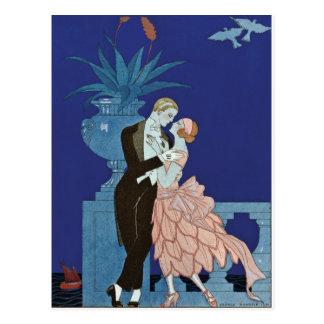 "Vintages romantisches Paare ~ ""Oui "" Postkarte"