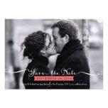 Vintages romantisches Skript-Foto Save the Date Einladungskarte