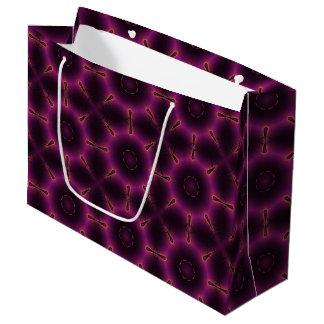 Vintages rosa lila und orange Mosaik-Muster Große Geschenktüte