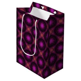 Vintages rosa lila und orange Mosaik-Muster Mittlere Geschenktüte