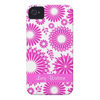 Vintages rosa mit BlumenBlackBerry-mutiger Kasten iPhone 4 Hüllen