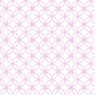 Vintages rosa quatrefoil Gittermuster Freistehende Fotoskulptur